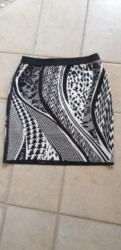 Marc Cain Falda stretch negro-blanco puro