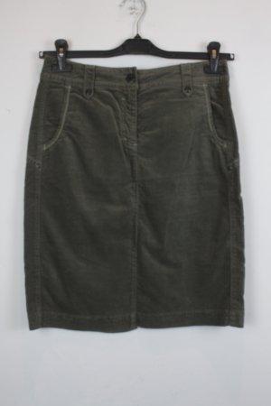 Marc Cain Jupe taille haute gris vert coton