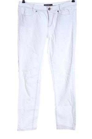 Marc Cain Pantalon cigarette blanc style décontracté