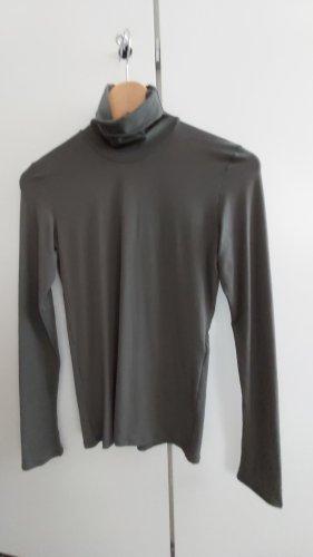 Marc Cain Camisa de cuello de tortuga caqui poliamida
