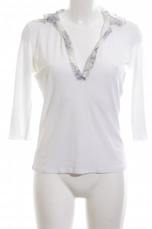 Marc Cain Ruffled Blouse white elegant