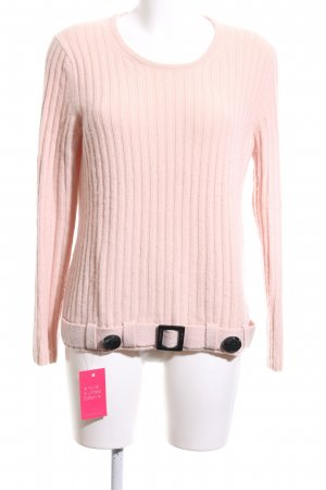 Marc Cain Rundhalspullover pink Zopfmuster Casual-Look
