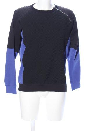 Marc Cain Rundhalspullover schwarz-blau Casual-Look