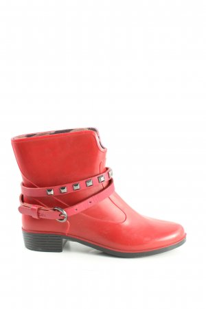 Marc Cain Slip-on Booties red casual look