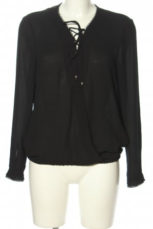 Marc Cain Schlupf-Bluse schwarz Business-Look