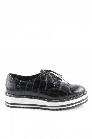 Marc Cain Lace Shoes black animal pattern business style