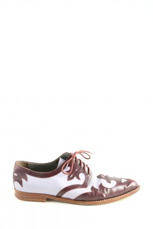 Marc Cain Lace Shoes brown-white casual look