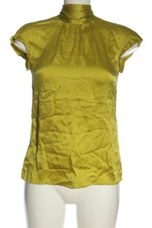 Marc Cain Blusa de seda amarillo pálido elegante