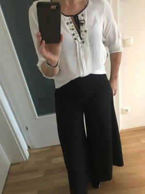 Marc Cain Zijden blouse wit-zwart