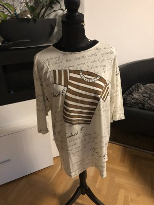 Marc Cain Camiseta estampada crema-beige claro