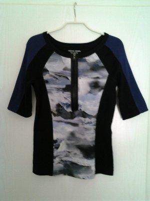 marc cain sports Ribbed Shirt blue-black cotton