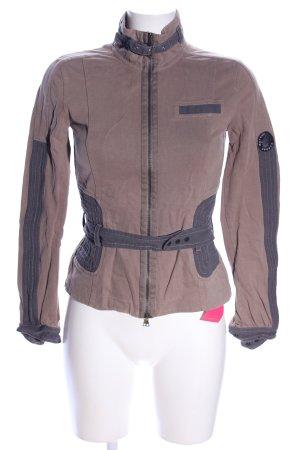Marc Cain Shirt Jacket brown-light grey casual look