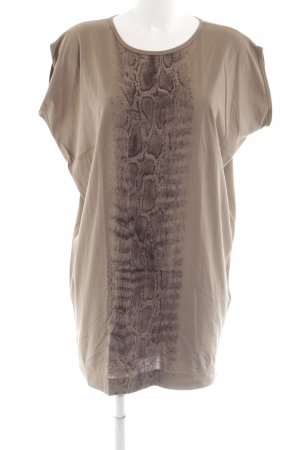 Marc Cain Shirt Dress nude-brown animal pattern casual look