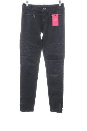 Marc Cain Skinny Jeans schwarz-hellgrau Steppmuster Casual-Look