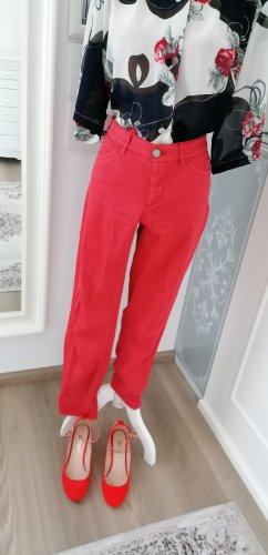 Marc Cain Skinny Jeans Rot Low Waist