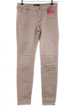 Marc Cain Slim Jeans creme Punktemuster Casual-Look