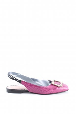 Marc Cain Slingback-Pumps pink Animalmuster Casual-Look