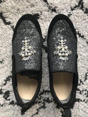 Marc Cain Zapatos sin cordones negro-color plata