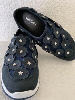 Marc Cain Slip-on Sneakers dark blue-white