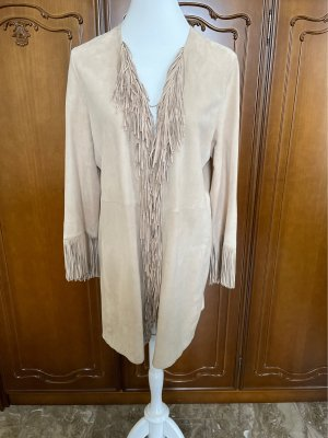Marc Cain Leather Coat oatmeal