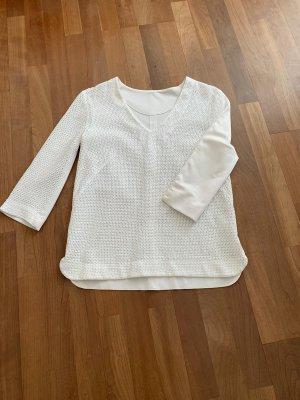Marc Cain Siateczkowa koszulka biały