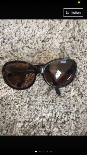 Marc Cain Oval Sunglasses black-black brown