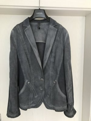 Marc Cain Blazer en jean bleu acier