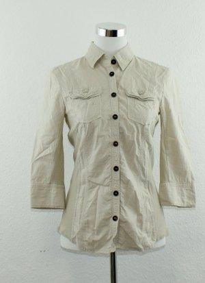 Marc Cain Camicia blusa crema-beige chiaro Lyocell