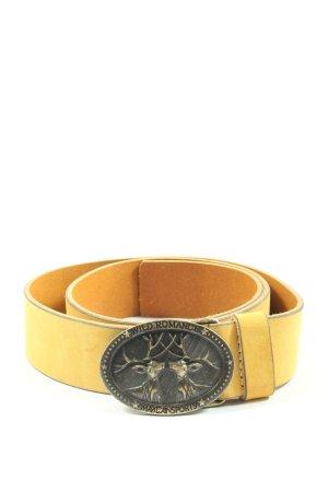 marc cain sports Hebilla del cinturón amarillo pálido elegante