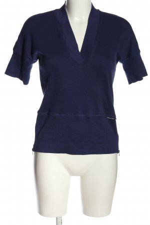 marc cain sports Camisa acanalada azul look casual