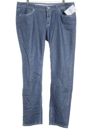 Marc Cain Sports Straight-Leg Jeans stahlblau Glitzer-Optik