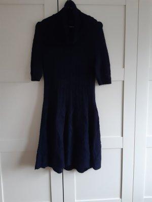 Marc Cain Gebreide jurk donkerblauw