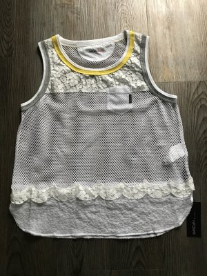 Marc Cain Lace Top white-yellow