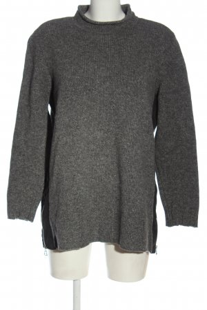 marc cain sports Wool Sweater light grey flecked casual look