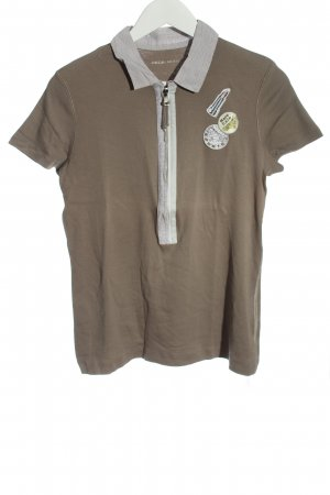 Marc Cain Sports Shirt brown themed print casual look