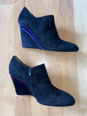 Marc Cain Wedge Booties black-dark violet