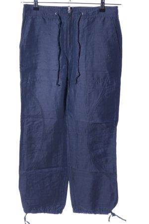 Marc Cain Stoffhose blau Casual-Look
