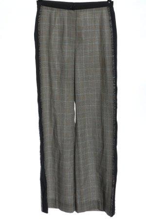 Marc Cain Pantalone jersey grigio chiaro motivo a quadri stile casual