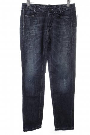 Marc Cain Straight-Leg Jeans dunkelblau Street-Fashion-Look