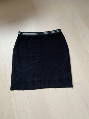 Marc Cain Stretch Skirt black-white