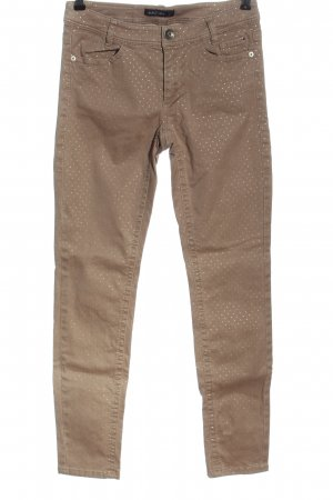 Marc Cain Stretch Trousers brown spot pattern casual look