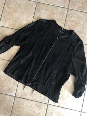 Marc Cain Biker Jacket black spandex