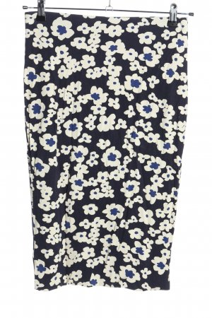 Marc Cain Stretch Skirt cream-blue allover print casual look