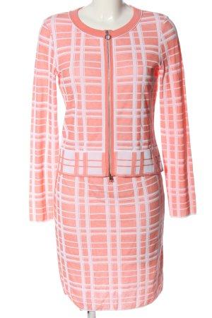 Marc Cain Twin Set punto rosa-blanco estilo «business»