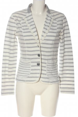 Marc Cain Strickblazer weiß-hellgrau Allover-Druck Casual-Look