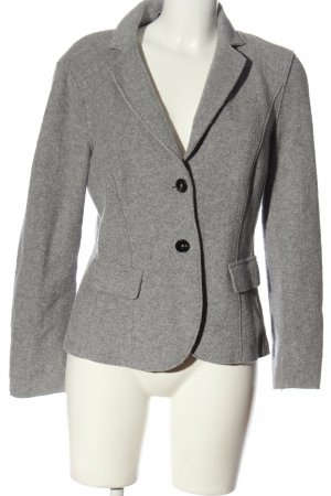 Marc Cain Strickblazer hellgrau Casual-Look
