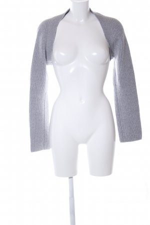 Marc Cain Knitted Bolero light grey cable stitch casual look