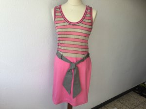 MARC CAIN Strickkleid Kleid in rosa beige Gr. N 2 = 36 Baumwolle Leinen