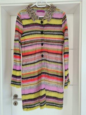 Marc Cain Manteau en tricot multicolore