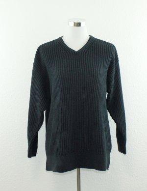 Marc Cain Pullover a maglia grossa blu scuro Cotone